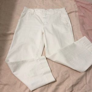Cropped free people white pants